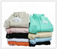Wholesale Men s fashion casual cotton shirt men s long sleeved shirt men s large size shirt M135
