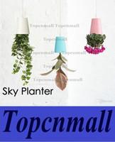 Wholesale 4 Colors carton Sky Planter Hanging Flower Pot Upside Down Plant Pot Home Office Shop Mall Decoration Novelty Item Brand New