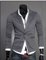 korean men fashion - Top Korean Jacket Fashion brand Top design Knit Blazer one button design Casual suit Men s Casual Suit