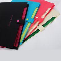 Wholesale Hot Sale Accordion Style Design Durable Waterproof Book A4 Paper File Folder Bag Document Rectangle Office School Color Random
