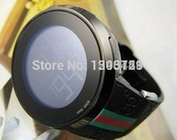 analog watch lcd - 2016 BOX Luxury New Luxury Mens Black PVD LCD Digital Digital Watch Men Multiple Time Zone LED Sport Watches