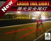 Wholesale LED Laser flash mode Cycling Safety Bicycle Rear Lamp waterproof Bike Laser Tail Light Warning Lamp Flashing new hot