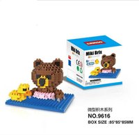 build a bear - 2015 New pieces a styles selectable Brown Bear loz diamond nano plastic cube building blocks education toy for kids LY