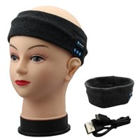 beach music - Bluetooth Sports Hats Headset Caps Stereo Music Headband Sweatband Call Handsfree for Men and Women Running Beach Yoga