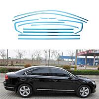 Wholesale Full Window Trim Decoration Strip Car Accessories For Volkswagen Passat B7 sedan Stainless Styling