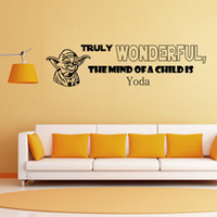 art minds - Yoda Wall Decals Star Wars Wall Sticker The Child Mind IS TRULY WONDERFUL DIY Home Decoration Wall Mural Removable Bedroom Letter Sticker
