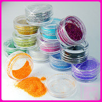 Wholesale 12 Color Mix UV Gel Glitter Dust Powder Nail Art Tip Decoration DIY Make Up Nail Beauty Decoration