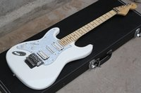 big hands guitar - fingerboard maple HSH pickups big headstock normal neck Floyd rose tremolo ST Left handed Electric Guitar White Finish not case