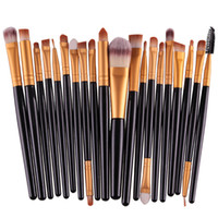 beauty brands makeup - 20Pcs Cosmetic Makeup Brushes Set Powder Foundation Eyeshadow Eyeliner Lip Brush Tool Brand Make Up Brushes beauty tools pincel maquiagem