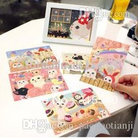 Wholesale New arrived sets New set sweet cute cat postcard greeting card series mix UK118
