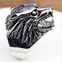 indian head rings - ORSA Wolf Head Personality Ring for Men High Quality Titanium Steel Ring Male Jewelry WTR55