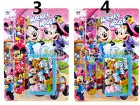 Wholesale Mickey Mouse snap Watch Wallet set Mickey Mouse Purse Mickey Mouse snap Watch with Retail the blister packaging for Kids best gift H0406e