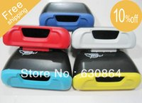 Wholesale Mini Automotive dustbin Car Trash Rubbish Can Garbage Dust Case Holder Box Bin Blue Red Yellow Silver Light blue