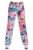 Wholesale high Q Fabric women ski pants snowboard snow trousers Waterproof Windproof Breathable Original goods
