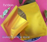 Wholesale 300pcs Small gold aluminum foil bag x10cm Compound bag coffee bag Wide brimmed bags