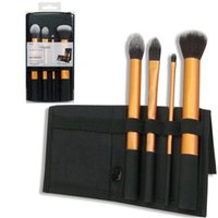 real techniques makeup brush - Best seller real tech Real technique pink gold purple Brushes set soft hair Professional Makeup powder brush set