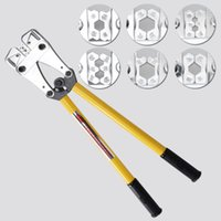 electrical cable crimp lug - 10 mm Electrical Cable Crimping Tool Battery Rotatable Lug Wire Crimper Die