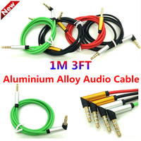 Wholesale Audio Auxiliary Cable m mm AUX Extension Male to Male Stereo Car Jack for iphone s Samsung S6 MP3 ipod HTC Blackberry