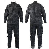 Men bdu style pants - Tactical Rattlesnake Mandrake BDU Military Uniform Combat Suit Set Shirt Pants Ripstop for Gun fighter with Kryptek style