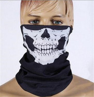 Wholesale FASHION hot SALE Skull Multi Function Bandana Ski Sport Motorcycle Biker Scarf Face Masks cycling mask D530