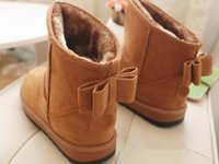 Wholesale Fashion Womens Cute Bowknot Winter Warm Snow Boots Shoes women boots CGB boots shoes