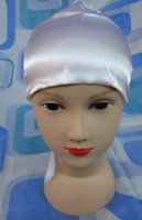 assorted headgear - ih026 plain satin headgear with tail in assorted colors for