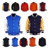 letterman jackets - East Knitting AS Premium Varsity College Letterman Baseball Jacket Uniform Jersey Hoodie Hoody US Black M L XL XXL