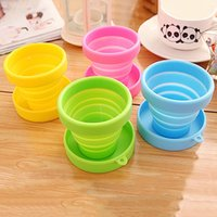 Wholesale Hot Sales Portable Cups Silicone Telescopic Drinking Collapsible Folding Cup Outdoor Travel Camping Random Color MA0036