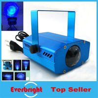 Wholesale New Arrival Mini water wave laser light Blue Auto Moving Stage Laser Light Projector with tripod DJ party disco light