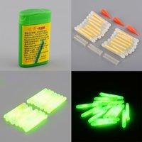 Wholesale 15X Mini Fishing Fish Fluorescent Lightstick Light Night Float Rod Lights Dark Glow Stick Useful