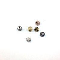 Wholesale 18K Round Copper Beads Big Hole Holidays Metals Loose Beads Jewelry Making Supplies for Charm Bracelets BE001