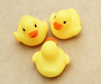 Wholesale 2015 Mini Rubber duck bath duck Pvc duck with sound Floating Duck Toys Fast delivery For Child Free Ship LJ