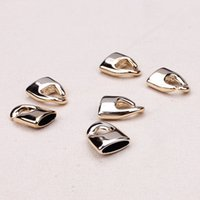 Cheap 10 sets  lot 11mm hole Antique Silver Plated Leather Cord End Caps Bracelet Connectors Necklace Fittings Material For Handmade