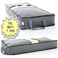 Wholesale 70L Home Save space organizer Underbed Closet Storage Box Case Clothes Divider Organiser quilt Organizer Under Bed