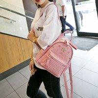 Wholesale 2015 New brand name Women Men Rivet Design EXO Backpacks Backpack Good Quality Book bags Cheap large size