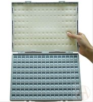 Wholesale good quality Blank Electronic Components Box girds Resistance and capacitance sample accessories Plastic box