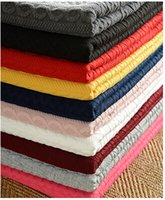 Wholesale Knitted jacquard fabrics with high thickening air layer ground warp knitting striped wool fleece t shirts warm render unlined upper garment