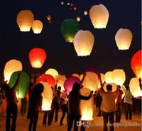 2015 Hot vente Coeur Sky Lanternes, Souhaitant Lantern feu Balloon chinoise Kongming Lanterne Souhaitant Expédition lampe d'éclairage extérieur gratuit