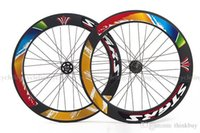 Wholesale STARS Road Bike Bicycle Single Speed Fixed Gear Fixie Track Wheels Wheelsets C mm Colorful Wheelset