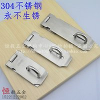 Wholesale 304 stainless steel thick door hasp lock box buckle stainless steel padlock security padlock brand inch low nose