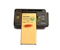 alpha battery charger - 1x mAh EB BG850BBC Replacement Golden Battery LCD Wall Charger For SamSung Galaxy Alpha G850 G850F G8508 G8508S G850T G850M G850V