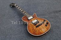 Wholesale New arrive Custom Nature Maple Top Mahogany Body LP Electric guitar with Chrome Hardware