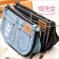 Cheap 2015 Fashion Denim Shorts Personalized Coin Purse Canvas Pencil Case Pencil Bag Small Change Purse Convenient Storage Bag Cowboy wallet