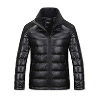 men winter down coat jacket - 2015 High Quality Fashion Men North Coat Winter Parkas White Duck Down Puffer Jacket Stand Collar Ultra Thick Padded Outwear Cloths WI95
