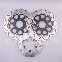 motorcycle rear disc brake - motorcycle parts Front Rear Brake Discs Rotor For Suzuki GSXR GSXR1000 Black