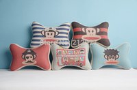 Wholesale Mouth Monkey classic bone pillow space memory headrest car pillow car headrest and retail