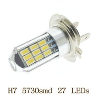 Haute puissance H7 5730 SMD 27 LED CREE Lens voiture brouillard Super Bright Daytime Running Light Lampe DRL Xenon ampoule blanche 12v