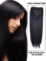 Wholesale brazilian hair clip in extension set g inch inch full head clip natural hair