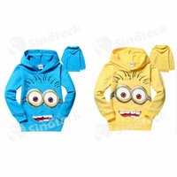 Wholesale Cartoon Children Clothes Despicable Me Minion Rush Hoodie Sweatshirts Kids Clothing Long Sleeve for Spring Autumn Boys Girls Coat Free DHL