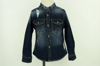 blue deep clothing - Baby Boy Coat Spring Autumn Kids Outerwear Cowboy Jacket Children Costume Outfits Jeans Coat Outwear Blue Clothes Deep Blue Fashion Cool